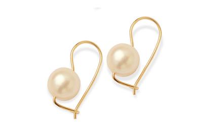 Akoya Euro Style Drop Earrings