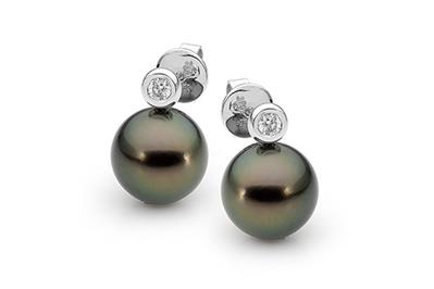 Tahitian and Diamond Pearl Studs