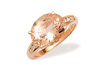 Morganite and Diamond Dress Ring