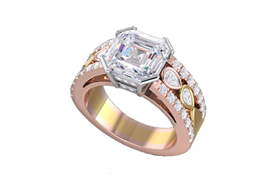 CAD Design Diamond Engagement Ring