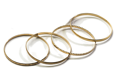 Stackable 9ct Yellow Gold Bangles