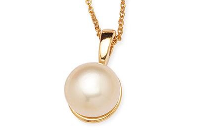 White Button South Sea Pearls Pendant