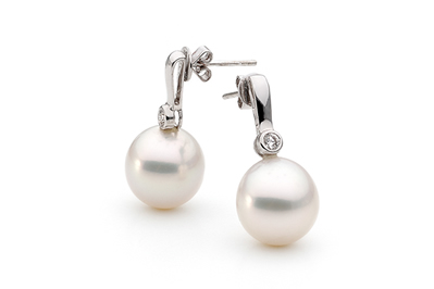 White South Sea Cultured Pearl Stud Earrings