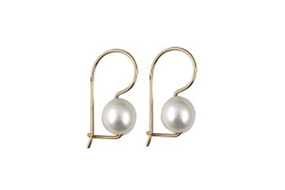 Created Pearl Earrings