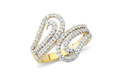 Cross-over Open Diamond Dress Ring
