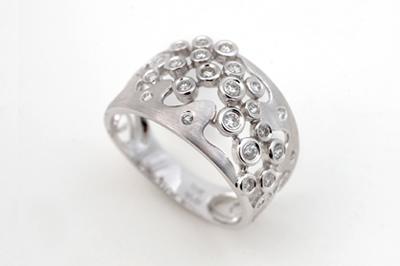 Free-Form Diamond Dress Ring