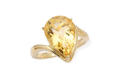 Golden Yellow Sapphire Ring