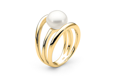 White Button South Sea Pearl Ring