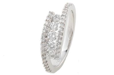 White Gold Diamond Dress Ring