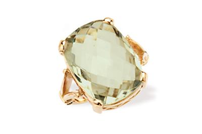 Square Cushion Cut Mint Quartz Ring
